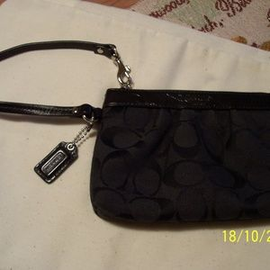 COACH BLACK WRISTLET LEATHER TRIM AUTHENTIC